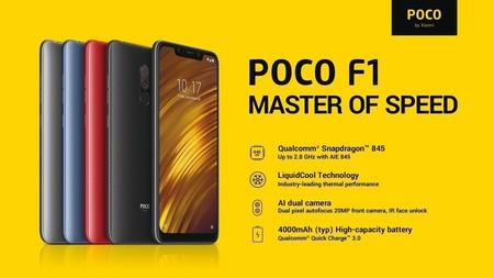 Xiaomi Pocophone F1 de 128GB, con Snapdragon 845 y refrigeración líquida, por 289,99 euros