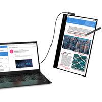 Lenovo tiene nuevo monitor portátil: el ThinkVision M14t llega con pantalla táctil, resolución 1080p y conexión USB Tipo C