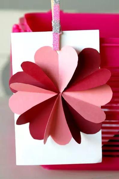 Manualidades San Valentin Flor Corazones