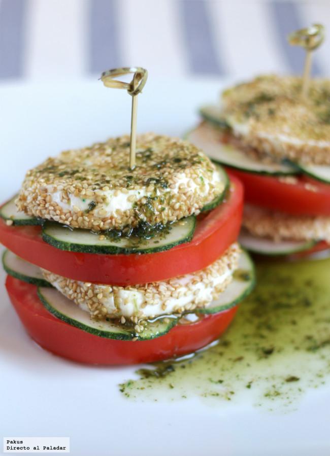 Milhojas Tomate Y Mozzarella