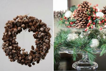 Las 13 mejores ideas con plantas para decorar la mesa en - Decorar pinas naturales ...
