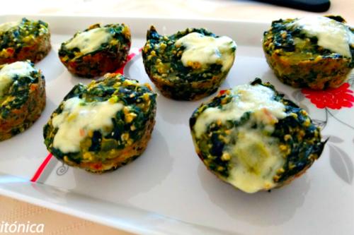 Muffins de espinaca: receta saludable