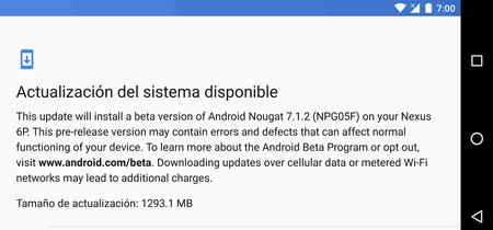 Nexus 6P recibe Android 7.1.2 Nougat sin el gesto del sensor de huellas
