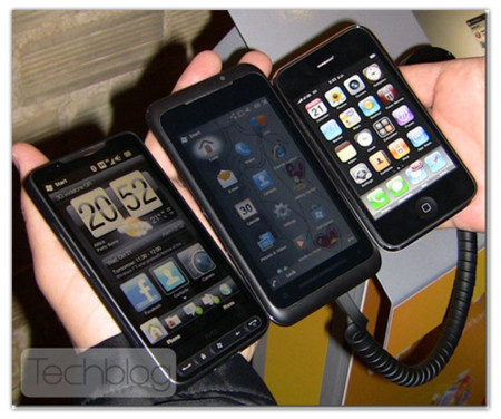Internet Explorer Mobile 6 con soporte multitáctil en un HTC HD2