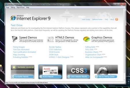 Preview de IE9