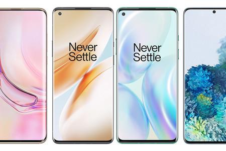 OnePlus 8 y OnePlus 8 Pro, comparativa: así quedan contra Xiaomi Mi 10, Huawei P40, iPhone 11, Google Pixel 4 y resto de gama alta
