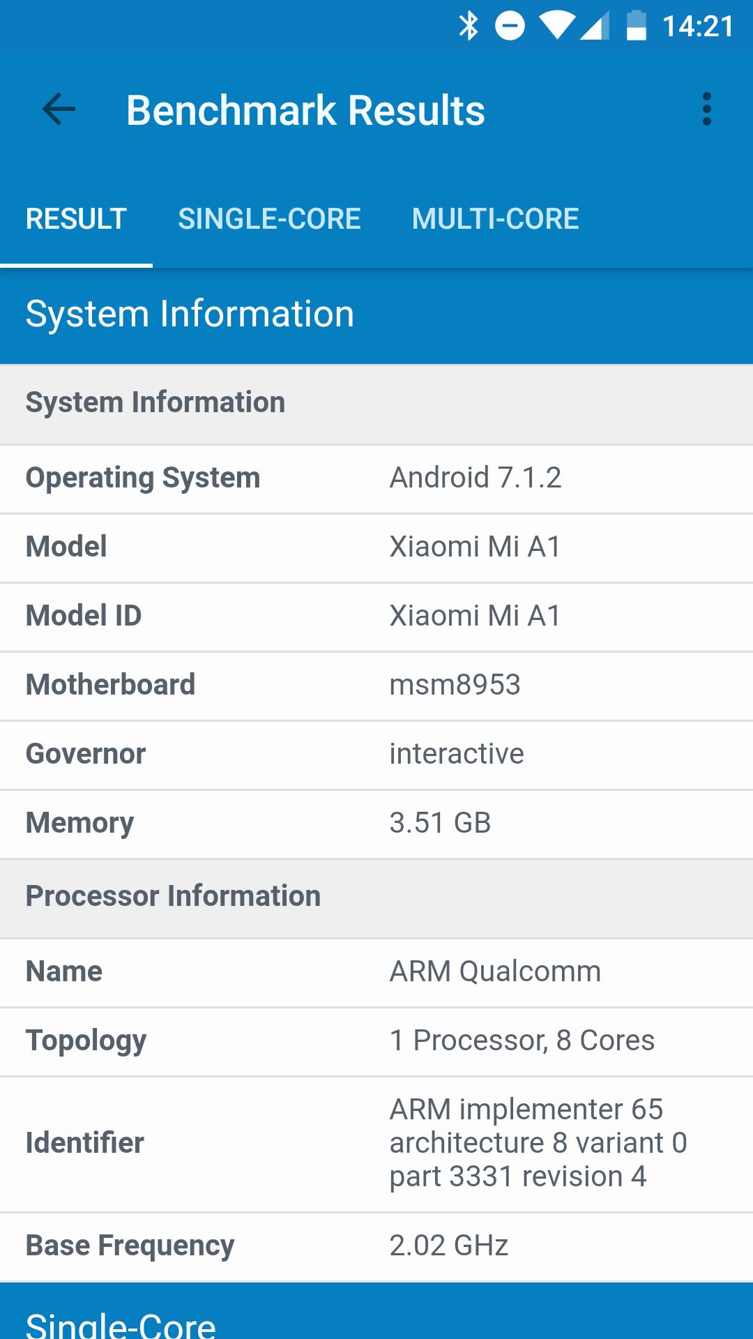 Foto de Benchmarks del Xiaomi Mi A1 (13/19)