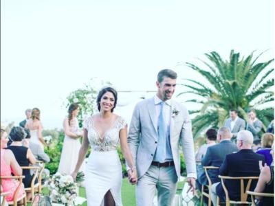 Michael Phelps es tan majo que nos enseña las fotos de su boda... ¡de junio!
