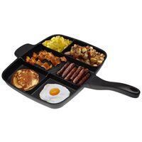Sartén antiadherente para cocinar 5 alimentos diferentes a la vez por 20,44 euros en eBay