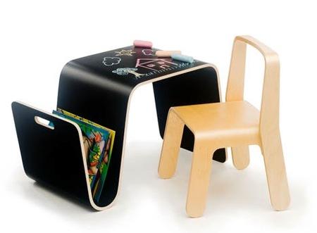 escritorio negro niños offi