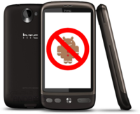 HTC Desire no actualizará a Android Gingerbread