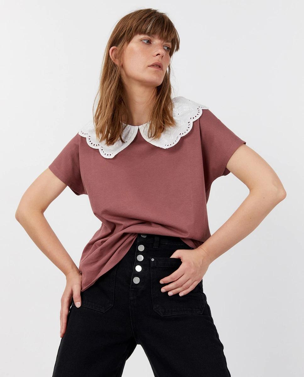 Camiseta ancha con cuello bobo de Sfera