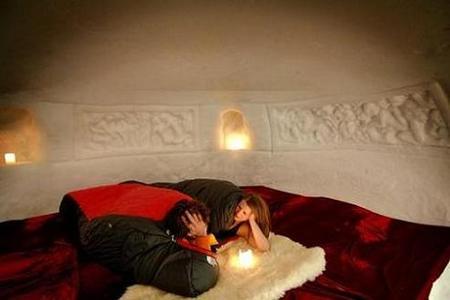 San Valentín: una noche romántica en un iglú