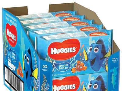 Pack de 10 bolsas de 56 unidades de toallitas húmedas Huggies   Disney por 13,37 euros en Amazon