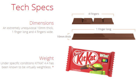 La promoción de KitKat y Android también llegará a España