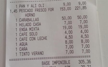 Las facturas de restaurante más abusivas del verano contadas por sus propias víctimas