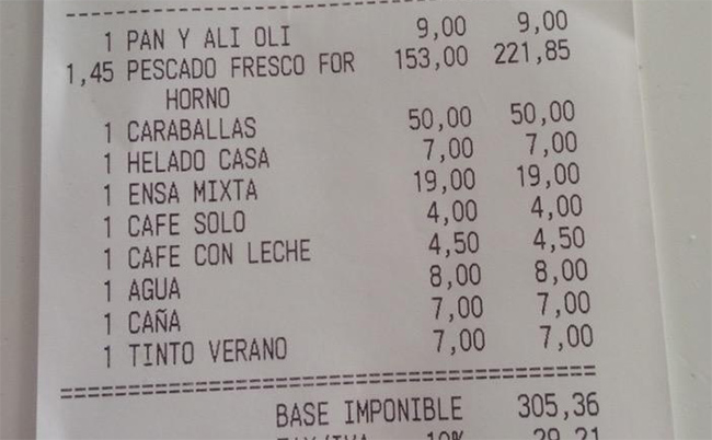 Restaurant La Corte Menu