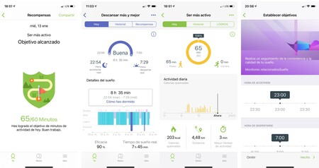 Capturas Samsung Health Salud
