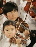 Orquesta infantil en Tokio