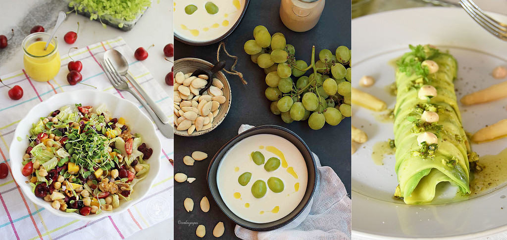 Ensaladas y otros platos fríos para sobrellevar el calor veraniego en el paseo por la gastronomía de la red