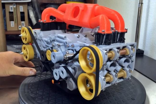 No te dejes engañar, este motor Subaru no es real, es una réplica impresa en 3D