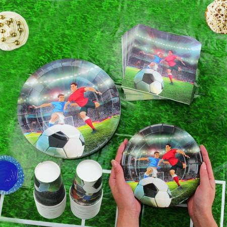 Vajilla desechable fútbol