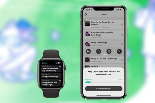 Castro ya permite reproducir podcasts directo en el Apple Watch: así permite la app enviar o descargar episodios en el reloj