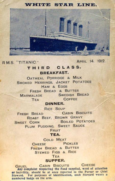 Menus Titanic 3