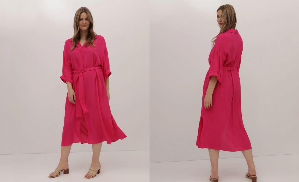 Vestido camisero talla grande Couchel Collection 100% lino