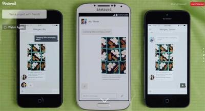 Pinterest para Android se actualiza, ahora podemos conversar sobre nuestros Pines