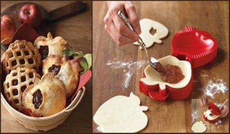 Molde con forma de manzana, para empanadas muy especiales