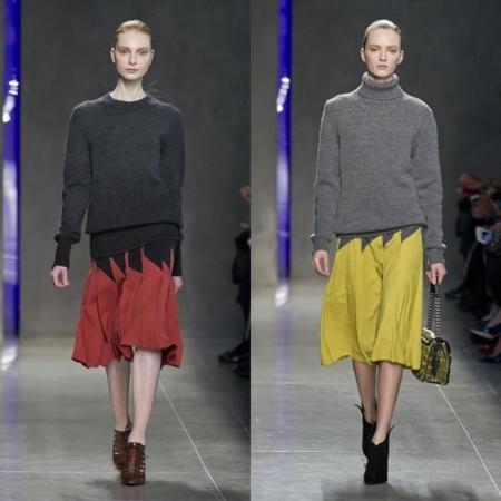 Este otoño vestirás como una secretaria modosita: punto y falda midi