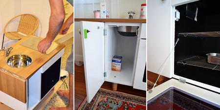 Hazlo t mismo una cocina de juguete con unas viejas mesitas for Cocina juguete segunda mano
