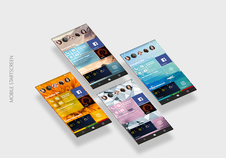 Windows 10 Mobile Neon Concepto
