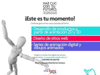 Así puedes estudiar animación y diseño web gratis, con apoyo del MinTIC y a la Utadeo