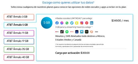 Plan Att Armalo Planes Paquetes Datos Gb Redes Sociales Ilimitadas
