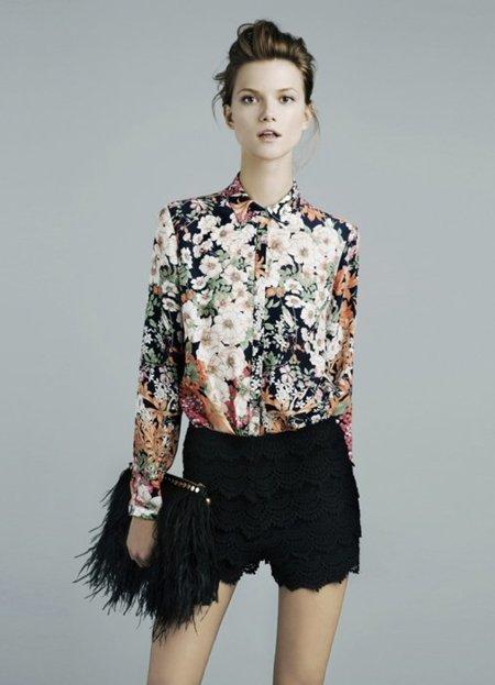 Flores Zara lookbook noviembre