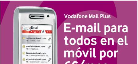 Nuevo Vodafone Mail Plus para correo en tiempo real por 6 euros
