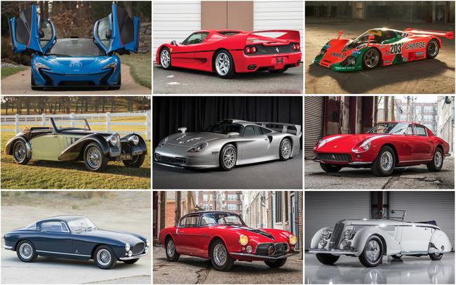 Estos son los 9 coches más caros subastados este fin de semana en Amelia Island