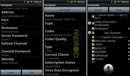 TeamSpeak para Android