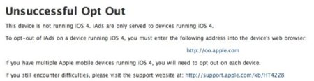 Cancela el envío de información de tu equipo iOS 4 a Apple