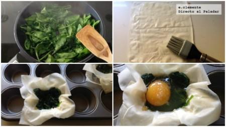 Tartaleta Huevo Espinaca Coll