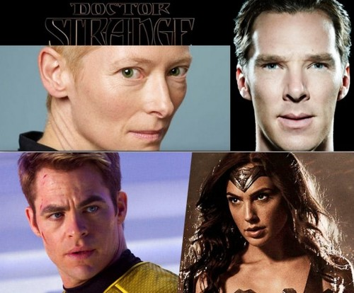 Marvel ficha a Tilda Swinton ('Doctor Extraño') y Warner/DC a Chris Pine ('Wonder Woman')