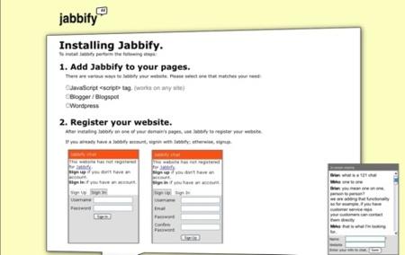 Jabbify, añade un sistema de chat a tu blog