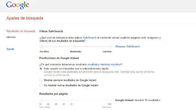 Google nos permite ahora guardar nuestras preferencias en las búsquedas con nuestro perfil