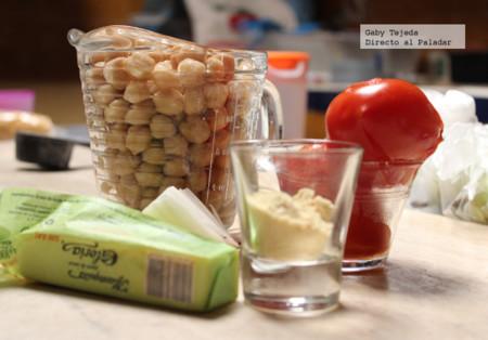 Ingredientes crema garbanzo c m d a
