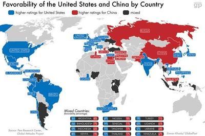 Qué países del mundo prefieren a China o a Estados Unidos