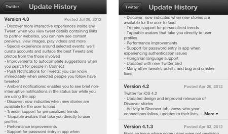 Twitter para iOS podría tener una actualización mayor