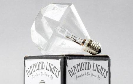 Bombillas con forma de diamantes