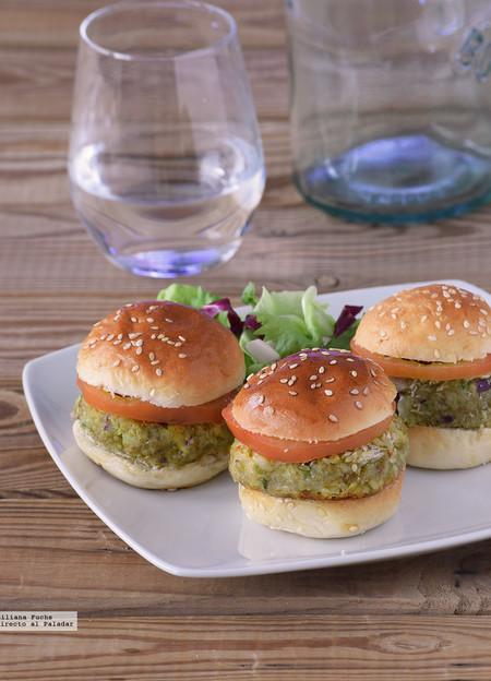 mini hamburguesas de aguacate y quinoa